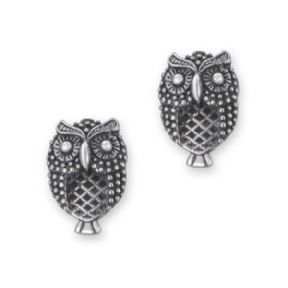 Owl Silver Stud Earrings 9952